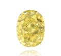 0.34ct IF Oval Yellow Fancy