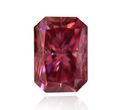 0.29ct SI2 Radiant Red Fancy