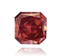 0.43ct SI1 Radiant Red Fancy