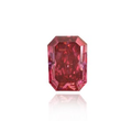 0.34ct SI1 Radiant Red Fancy